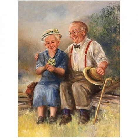 5d Diy Diamond Embroidery Painting Kits Old Couple