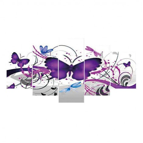 5D DIY Diamond Painting Kits Multi Panel Butterfly Picture