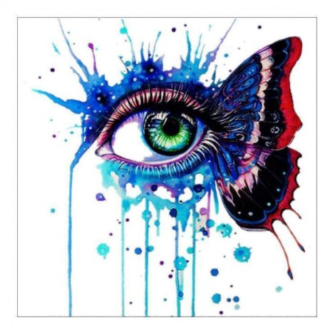 5D DIY Diamond Painting Kits Special Butterfly Eye
